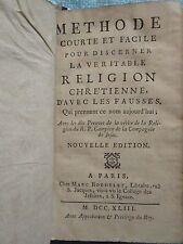 RECUEIL SUR LA RELIGION : LOMBARD / CAMPION / BABINET, 1739/1743.