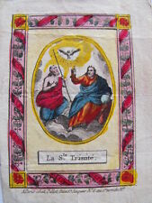 Sainte Trinité  Images pieuses XVIIIe S.  Pillot à Paris   Santini Holy Card