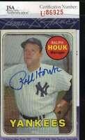 Ralph Houk 1969 Topps Jsa Cert Autograph Authentic Hand Signed