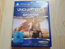 UNCHARTED 3 Drake's Deception Remastered SONY PLAYSTATION 4 NUOVO NEW ps4