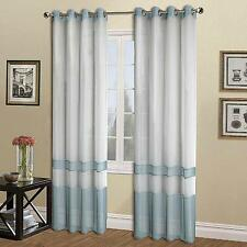 NEW UNITED CURTAIN MILAN SHEER WINDOW CURTAIN PANEL, 54 BY 63-INCH, BLUE