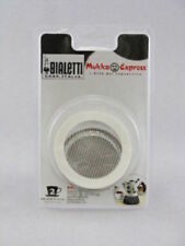 Bialetti 1 Gasket + 1 Filter Plate for Mukka Express Coffee Maker 2 Cup