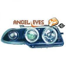 LHD Projector Headlights Pair Angel Eyes Clear Black For Vauxhall Astra F 91-97