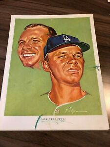 Dick Tracewski Los Angeles Dodgers Nick Volpe Print 1964