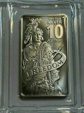 Lingotes y monedas de plata 10 oz