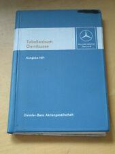 Tabellenbuch Mercedes   Omnibusse 1971 - O 302 - 305 - 317 - 317 K