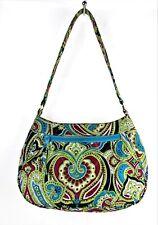 VERA BRADLEY Green Purple Multicolor Paisley Shoulder Bag Purse Quilted Handbag