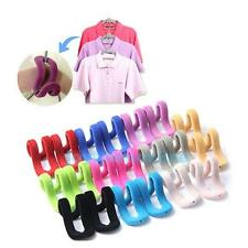 SAVE SPACE 10 x Home Mini Flocking Clothes Hanger Conector Hook Closet Organizer