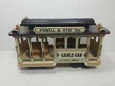 Vintage Wooden San Francisco Cable Car Music Box Powell and Hyde Sts Trolley