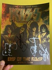Kiss 8x10 Signed Picture VIP End Of The Road Tour + Guitar Picks