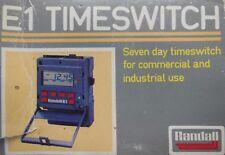 DANFOSS Randall E1 7 Giorno Timer digitale. Pannello di muro o il montaggio su rotaia DIN