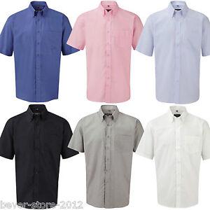 Herren Hemd Kurzarm Oxford Oberhemd Übergröße S M L XL XXL 3XL 4XL 5XL 6XL 37-54