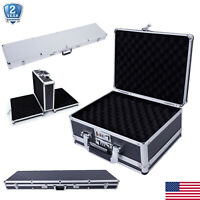 Aluminum Lock Gun Carry Case Handgun Pistol Hard Safe Box Foam Storage Suitcase