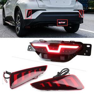 2x Rear Fog Lights LED + 1x Rear Bumper Tail Light Fit Toyota CHR C-HR 2018-2021