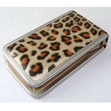 Manicure Set Leopard Print Cosmetic Beauty Kit Gold & Black 6pc