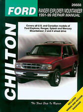 Chilton Repair Manual Ford Ranger, Explorer, Mountaineer, 1991-99 #26688