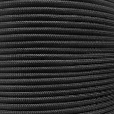Bulk Paracord Spools - Black Commercial Parachute Cord in 1000' & 500' Lengths