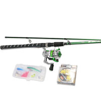 USDOX Travel Fishing Bass Spinning Rod Reel Combo Carbon IM6 Hook Lure Line