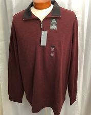 Van Heusen Men's Modern  Long Sleeve Pullover Sweater Maroon Color XL