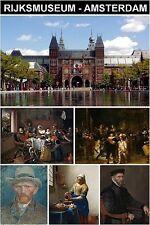 MUSEUM SOUVENIR FRIDGE MAGNET - RIJKSMUSEUM AMSTERDAM & REMBRANDT & VERMEER