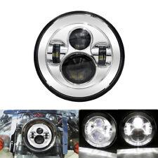 "For Harley Davids Motocycle 7"" Inch LED Halo Headlight Sealed Beam Projector Kit"