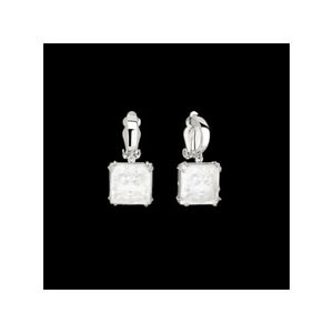 GENUINE LALIQUE CLEAR CRYSTAL Masque De Femme Arethuse Earrings (10461200)
