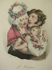 L. BOILLY ´FRÜHLING; LE PRINTEMS; LE PRINTEMPS´ KREIDELITHOGRAPHIE, DELPECH 1824