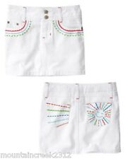 New Gymboree Skirt Burst Of Spring 4 5 6 Embroidered Cotton White