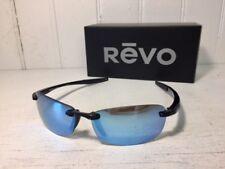 REVO RE4060 01 BL DESCEND E Shiny Black w/ Blue Water POLARIZED Lenses Suns