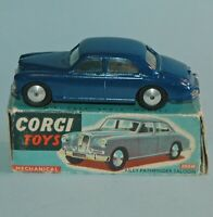 1956 CORGI London 205M MECHANICAL RILEY PATHFINDER SALOON mint boxed Dark Blue