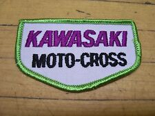 Vintage Kawasaki Motocross MX Motorcycle Patch