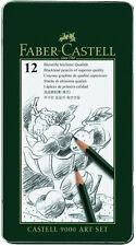 Faber-castell - 9000 artistas Calidad Grafito Lápices - 12 Set-Nuevo