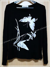 Butterflies With Glitters Long Sleeve Blouse