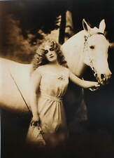 Vintage art , Lady Glamour Horse 8