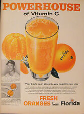 1959 Mickey Mantle New York Yankees Baseball Florida Oranges~Juice Print Ad