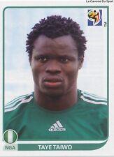 N°129 TAYE TAIWO # NIGERIA STICKER PANINI WORLD CUP SOUTH AFRICA 2010