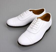 New Authentic Gucci Kids Leather Diamante Dress Oxford, sz 29/US 12,White,285233