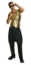 80s Rappers MC Hammer Vanilla Ice Black Pants Costume 80's parachute - Fast -