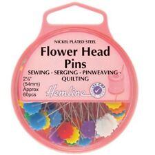 Dobladillo cabeza de Flor de pasadores largos Niquelado Ideal Para Quilting