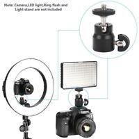 Mini Ball Head 360 Swivel for Camera Stand Tripod Adapter 1/4 Screw Mount Lock