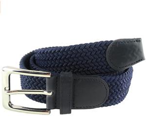 Cintura Cinta Uomo Donna Elastica Stretch Intrecciata In Corda Regolabile Casual