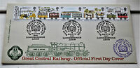 Great Central Railway Official First Day Cover Stamps 12 March 1980 Railwayana