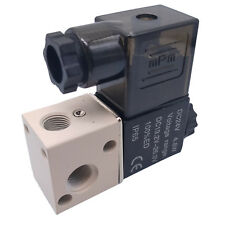 US Stock DC 24V Pneumatic Solenoid Air Valve 3 Way 2 Position NC 1/8