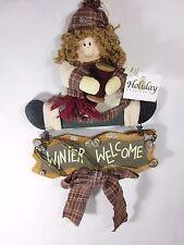 Colgante Navidad Invierno Welcome señal por Holiday Elegance madera