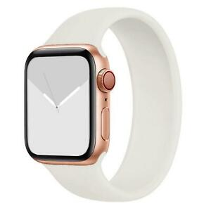 Strap for Apple Watch Series 7 6 SE 5 4 42 44 mm iWatch Silicone Solo Loop Band