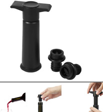 Wine Pump with 2 Stoppers Sealing Preserver Bar Accessories Wine Stoppers Sa