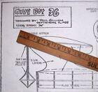 Rare CIVY BOY 36 PLAN to Build Paul Gilliam's Classic Free Flight Model Airplane
