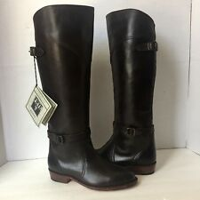 ❤️ NWT Womens FRYE 5.5 Dorado Brown Leather Buckle Riding Boots 77561 $458