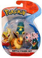 POKEMON Battle 3 Figure Set Pack Flareon Jigglypuff  Munchlax
