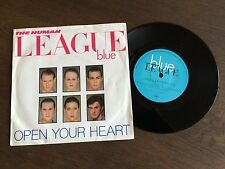 "THE HUMAN LEAGUE Open Your Heart UK 7"" 1981 EX/EX vinyl 45 single record VS453"
